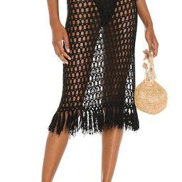 superdown Misty Crochet Midi Skirt in Black from Revolve.com | Revolve Clothing (Global)