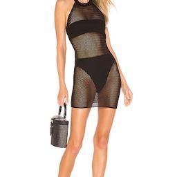 superdown Racheal Net Halter Dress in Black from Revolve.com | Revolve Clothing (Global)