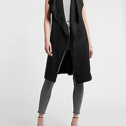 Sleeveless Belted Trench Jacket | Express