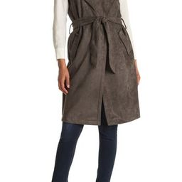 Faux Suede Trench Vest | Nordstrom Rack