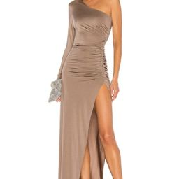 Michael Costello x REVOLVE Gilly Maxi Dress in Taupe from Revolve.com   Revolve Clothing (Global)