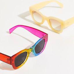 Matera Modern Sunglasses by Free People, Rainbow, One Size | Free People (US)