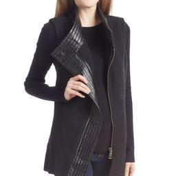 Live A Little Women's Non-Denim Casual Jackets BLACK - Black Wool-Blend & Faux Leather Moto Vest - W   Zulily