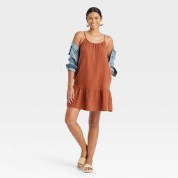Women's Sleeveless Tiered Gauze Dress - Universal Thread™ | Target