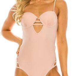 COCO SWIM Women's One Piece – V-Neck Swimwear Swimsuit Sexy Lace Up Bathing Suit Beach Pool Wea... | Amazon (US)