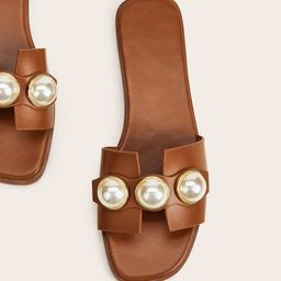 Faux Pearl Decor Sliders   SHEIN