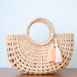 Get free tassels as pictures • Straw bag • Weaving seagrass • top handle bag • boho bag ...   Etsy (US)