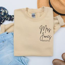 personalized gift for bride, wedding gift, honeymoon pajamas, bride to be gift, custom bridal gif... | Etsy (US)