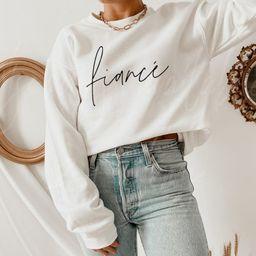Fiancé Sweatshirt // Bridal Shower Gift / Engagement Gift / Gift for Bride / Gift for Fiance / W... | Etsy (US)