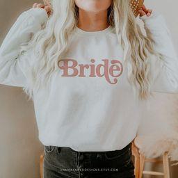 TRIXIE Bride Sweatshirt, Bride Sweater, Retro Bride Shirt, Engagement Gift, Fiance Sweatshirt, Br... | Etsy (US)