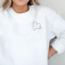 Mrs Sweatshirt, Personalized Wedding Gift, Bridal Shower Gift, Wedding Sweatshirt, Bride Sweatshi... | Etsy (US)