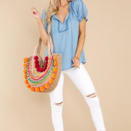 Garden Meetings Chambray Top | Red Dress