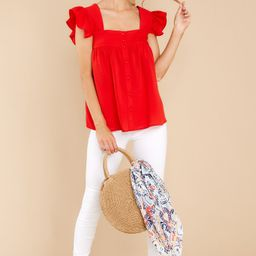 Heart Flutters Red Top | Red Dress