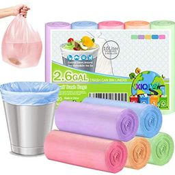 Small Garbage Bags 2.6 Gallon Colorful Biodegradable Trash Bags,120 Counts Bathroom Garbage Bags ... | Amazon (US)