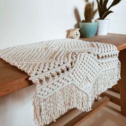 Macrame rug runner - macrame table runner - handwoven macrame wedding runner - custom table place... | Etsy (AU)