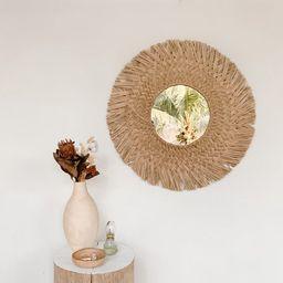 Natural Seagrass Mirror - handmade woven grass mirror - Large wall-mounted Coastal boho mirror - ... | Etsy (AU)