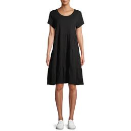 Time and Tru Women's Tiered Knit Dress   Walmart (US)