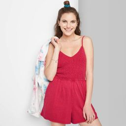 Women's Smocked Top Knit Romper - Wild Fable™   Target