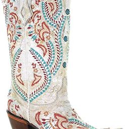 CORRAL Women's Turquoise Embroidery with Studs Western Boot Snip Toe   Amazon (US)