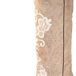 Corral Women's Bone Tall Lace Embroidery Boot G1128 | Amazon (US)