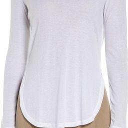 Peak Cutout Long Sleeve T-Shirt | Nordstrom