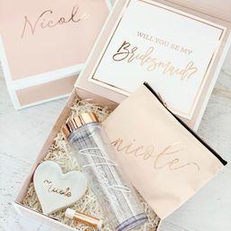 PINK Bridesmaid Proposal Box Pink Gift Box Personalized Pink Bridesmaid Box Pink Gift Ideas (EB33... | Etsy (US)