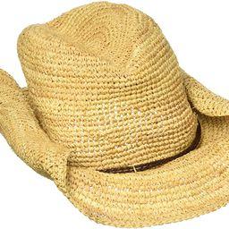 San Diego Hat Company Women's Crocheted Raffia Cowboy Hat,Natural,One Size | Amazon (US)
