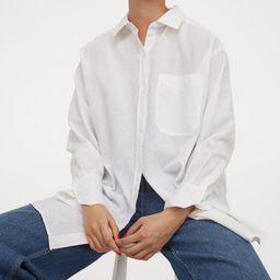 Oversized Linen-blend Shirt   H&M (US)