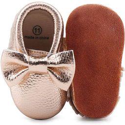 OOSAKU Infant Toddler Baby Soft Sole PU Leather Bowknots Shoes | Amazon (US)