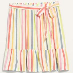 High-Waisted Tiered Striped Mini Swing Skirt for Women   Old Navy (US)