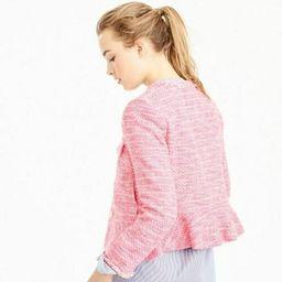 J.CREW Peplum Lady Tweed Cropped Jacket Blazer Pink New 4 S $268    eBay   eBay US
