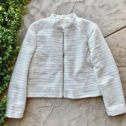 New J Crew Suiting Jacket Blazer • Cream Tweed Metallic Stripe Collar • Size 8    eBay   eBay US