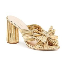 Penny Knotted Metallic Mules   Saks Fifth Avenue