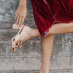 Dorothea Rose Gold Knotted High Heel Sandals   Lulus (US)