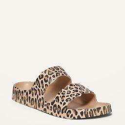 Printed EVA Double-Strap Slide Sandals for Women   Old Navy (US)
