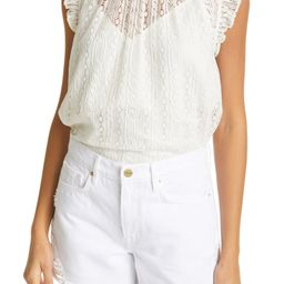 FRAME Ruffle Lace Top | Nordstrom | Nordstrom