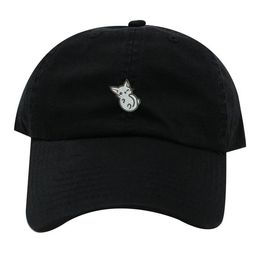 Ink Stitch Cat Cotton Baseball Unstructured Caps - 20 Colors   Etsy (US)