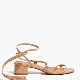 The Brigitte Lace-Up Sandal in Leather | Madewell