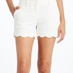 J.McLaughlin Women's Casual Shorts WHITE - White Stripe Petal Shorts - Women | Zulily