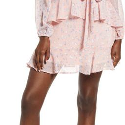 Leith Long Sleeve Wrap Front Minidress   Nordstrom   Nordstrom
