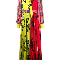 floral-print pleated dress   Farfetch (US)