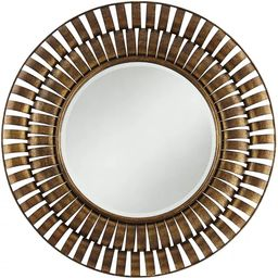 "Noble Park Tamlin Antique Bronze Metal 35 1/2"" Round Wall Mirror | Target"