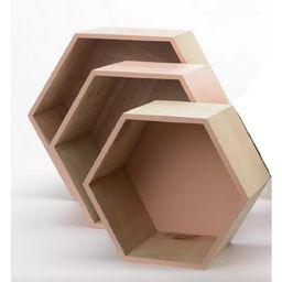 "Kaemingk Set of 3 Beige Contemporary Hexagonal Shadow Boxes 15.5"" | Target"