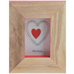 """Kaemingk 10"""" Basic Luxury Wood Picture Frame with Accented Edges - Brown/Pink 
