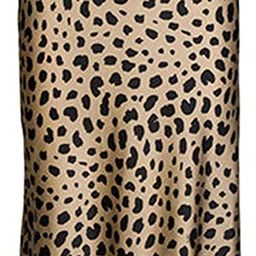 Leopard Print Skirt for Women Cheetah High Waist Silk Satin Elasticized Skirts   Amazon (US)