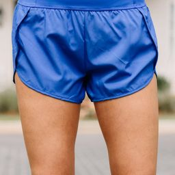 All Caught Up Azure Blue Shorts | The Mint Julep Boutique