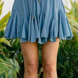 Look Your Way Dark Blue Ruffled Skort | The Mint Julep Boutique