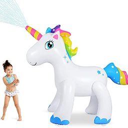 AQUAJOY Unicorn Sprinkler Water Toys Inflatable Unicorn Outdoor Yard Sprinkler for Kids and Adult... | Amazon (US)