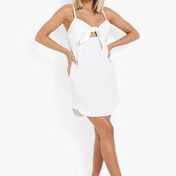 Tie Front Swing Mini Dress | Boohoo.com (US & CA)