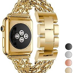 Seoaura Compatible Apple Watch Band 38mm 40mm, Stainless Steel Metal Cowboy Chain Style Replaceme...   Amazon (US)